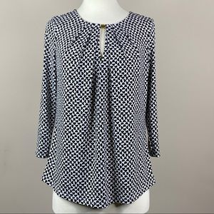 Liz Claiborne Career Blouse 3/4 Sleeve Size Small